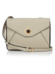 Taupe Cross Body Box Bag