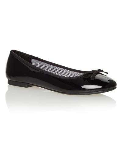 b536ee583 Womens Black Patent Ballerina Pumps | Tu clothing