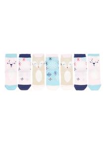 7 Pack Multicoloured Arctic Lodge Socks