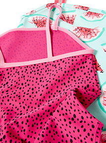 2 Pack Multicoloured Watermelon Swimsuits (3-14 years)