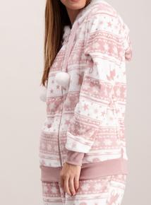 Pink Fairisle Unicorn Pyjamas