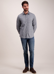 Grey Flannel Regular Fit Shirt