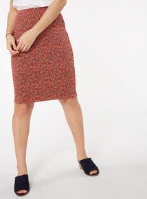 Tweed Jacquard Pencil Skirt
