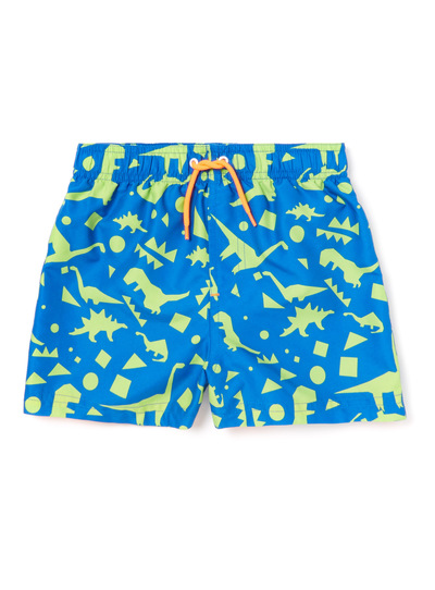 Green Dinosaur Print Swim Shorts (3-14 years)