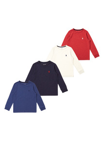 Boys Multicoloured Plain Tees 4 Pack (9 months-6 years)