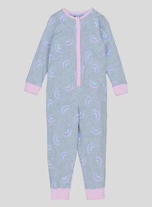 Grey Rainbow Print All In One (2-12 years)
