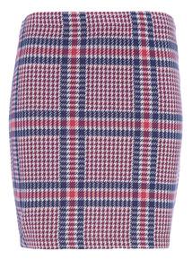 Multicoloured Check Tube Skirt