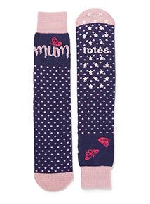 Navy Totes Mum Slipper Socks