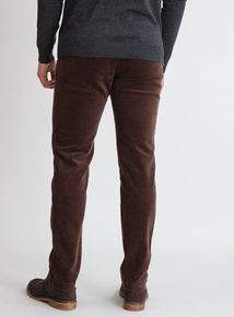 Premium Brown Slim Fit Corduroy Chino