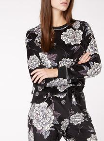 Floral Print Long Sleeve Top