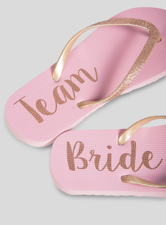7b71fa3e50a2 Womens Online Exclusive Team Bride Pink Flip Flops