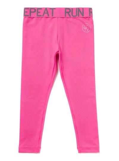 Pink Plain Leggings (3-14 years)