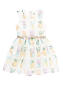 Cream Pineapple Dress (3 - 12 years)