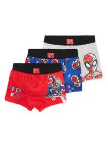 3 Pack Multicoloured Disney Spiderman Trunks