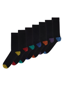 Black Stay Fresh Socks 7 Pack