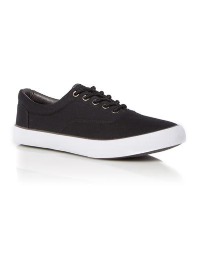 Black Canvas Lace Up Shoes