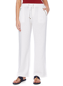White Linen Rich Trousers
