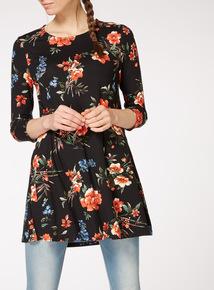 Multicoloured Floral Print Tunic