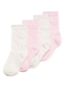 5 Pack Pink Pastel Socks (3 infant-3.5 adult)