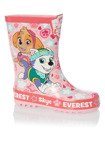 Girls Pink Paw Patrol Wellies
