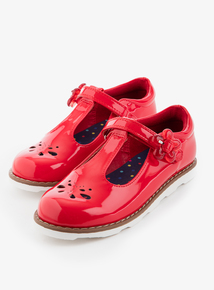 bff8b81c77e Red Faux Patent T-Bar Shoes (4 Infant - 12)