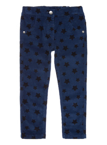 Navy Star Pattern Corduroy Trousers (9 months-6 years)