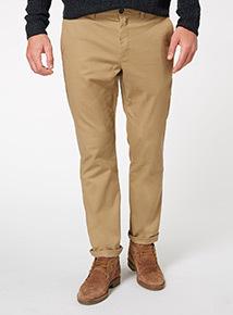 Camel Stone Straight Chino Trouser