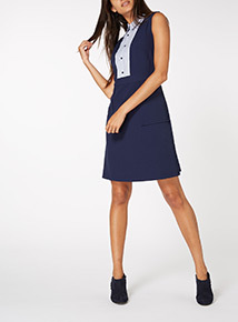 Navy 2 in 1 Pinny Dress