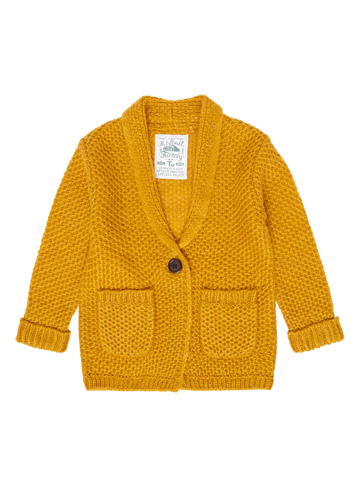 All Girl's Clothing Girls Yellow Honeycomb Cardigan (3-12 years ...