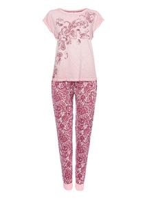 Purple Paisley Pyjama Set