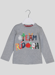 Christmas Multicoloured Reindeer T-Shirt (9 Months - 6 Years)