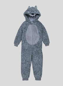 Grey Wolf Fleece All In One (3-12 Years)