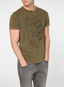 Khaki Sun's Out Rum's Out Tee