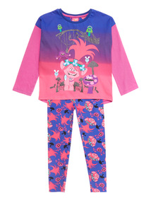 Purple Halloween Trolls Pyjama Set (3-10 years)