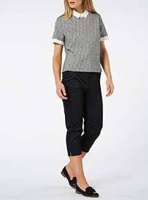 Mono Collared Layered T-Shirt