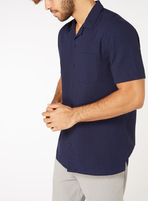 Regular Fit Textured Revere Collar Shirt