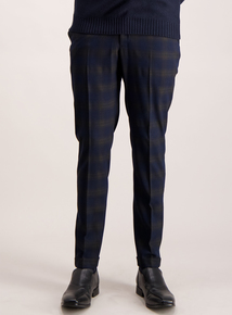 Frontman Check Skinny Fit Trousers