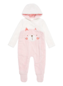 Girls Pink Novelty Pramsuit (0-24 months)