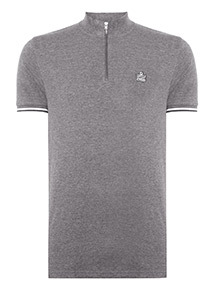 Admiral Grey Funnel Neck Polo