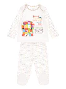 Kids White Elmer Pyjama Set (0-12 Months)