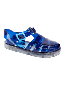 Blue Shark Light Up Jelly Sandals