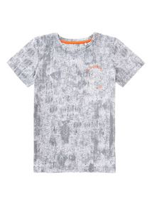 Grey Printed Skull Tee (3-14 years)