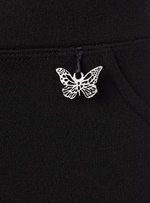 Girls BlackJersey Trousers 2 Pack (2-12 years)