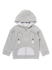 Grey Koala Hoodie (0-24 months)