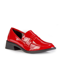 Red Patent Loafers