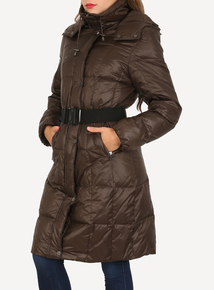 DAVID BARRY Brown Foldaway Jacket with Carry Bag