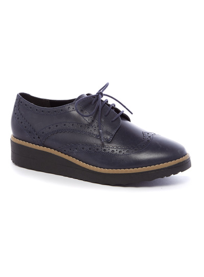 Premium Leather Platform Brogues