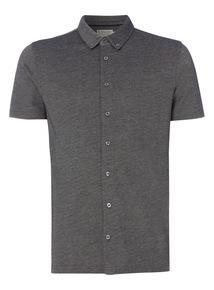 Grey Button Through Polo