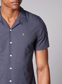 Admiral Navy Tile Revere Collar Shirt