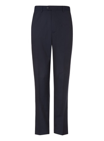 Navy Herringbone Trousers